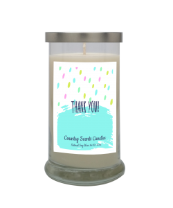 Thank You (Dots) 20 Libbey Candle