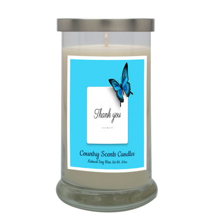 Thank You (Butterfly) 20 Libbey Candle