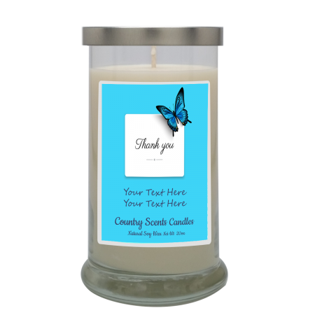 Thank You (Butterfly) Personalized Candle