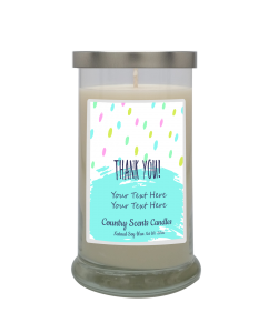 Thank You (dots) Personalized Candle