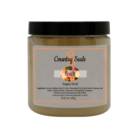 Peach 8oz Sugary Scrub