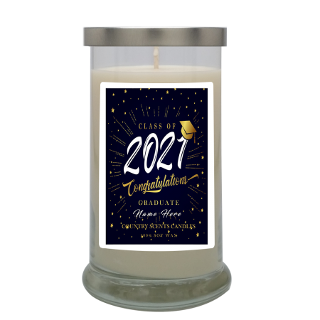 Graduate Class of 2021 Stars Personalized Candle