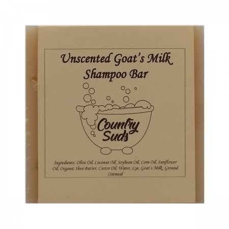 Unscented Goat Milk Shampoo Bar