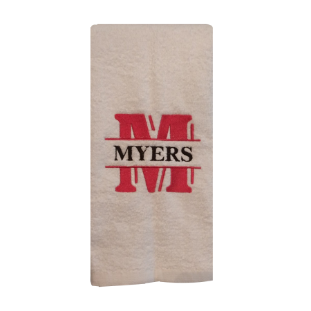 Custom Monogrammed Embroidered Hand Towel