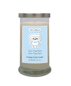 Its A Boy Personalized Candle