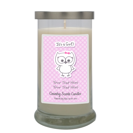 Its a Girl Personalized Candle