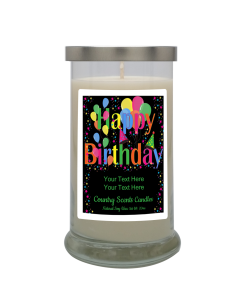 Happy Birthday Star Party Personalized Candle