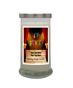 Happy Birthday Theater Personalized Candle