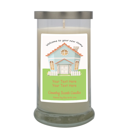 Welcome to Your New Home Personalized Candle