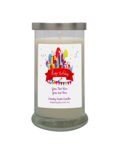 Happy Birthday Cake Personalized Candle