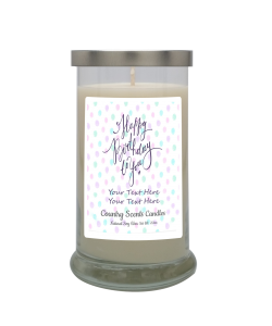 Happy Birthday Polka Dots Personalized Candle