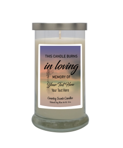 In Loving Memory Personalized Candle