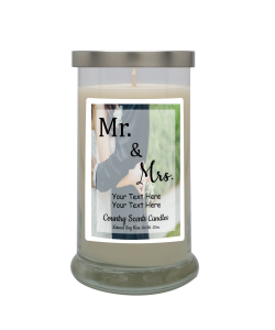 Mr and Mrs Personalized Candle