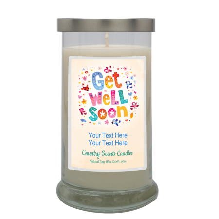 Get Well Soon Multicolored Personalized Candle
