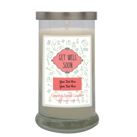 Get Well Soon Pink Medical Personalized Candle