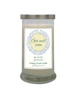 Get Well Soon Yellow Medical Personalized Candle