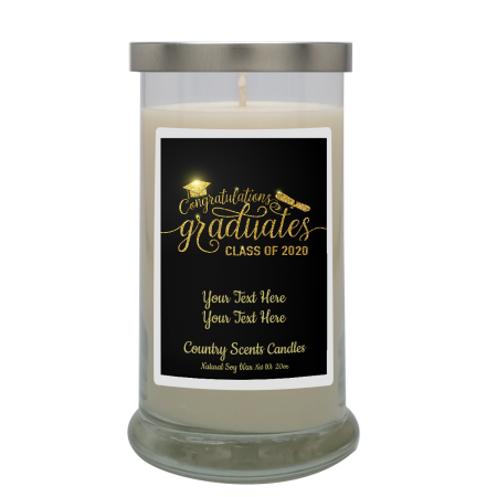 Graduate Class of 2020 Personalized Candle
