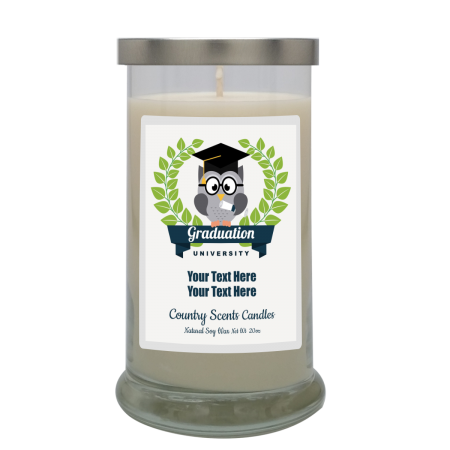 Graduate Owl Personalized Candle