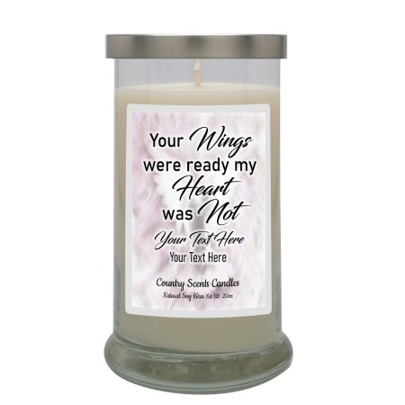 My Heart Was Not Ready Personalized Candle