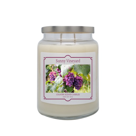 Sunny Vineyard 24oz Double Wick Candle