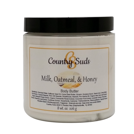 Milk Oatmeal and Honey 8oz Silky Body Butter