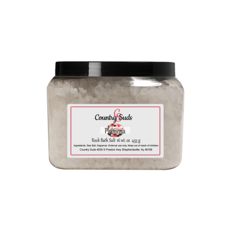 Pretty Plumeria 16oz Rock Bath Salt