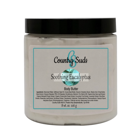 Soothing Eucalyptus 8oz Silky Body Butter