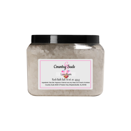 Love Poem 16oz Rock Bath Salt