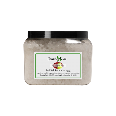 Raspberry Pear 16oz Rock Bath Salt