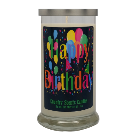 Happy Birthday (star party) 20 Libbey Candle