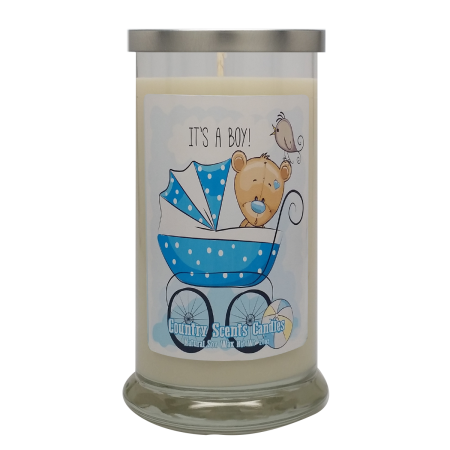 Its a Boy (buggie) 20 Libbey Candle