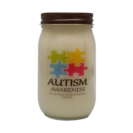 Autism Awareness Candle Puzzle