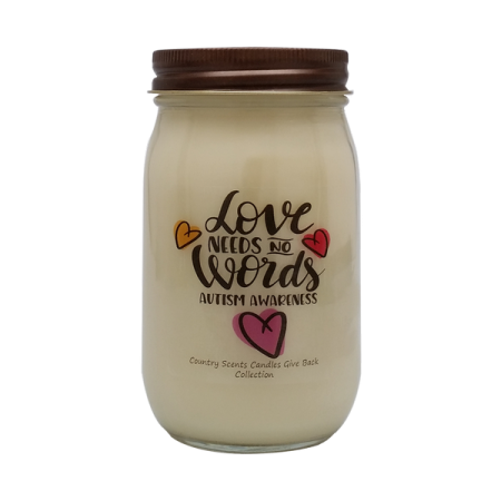 Autism Awareness Candle Love