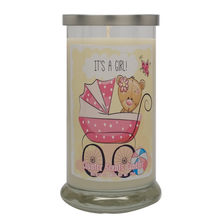 Its a Girl (buggie) 20 Libbey Candle