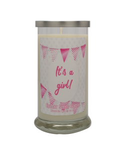 Its a Girl (flags) 20 Libbey Candle