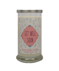 Get Well Soon (pink medical) 20 Libbey Candle