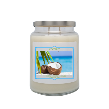 Coconut 24oz Double Wick Candle