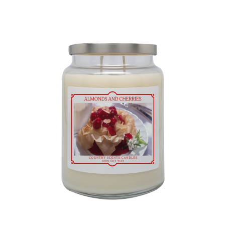 Almonds and Cherries 24oz Double Wick Candle