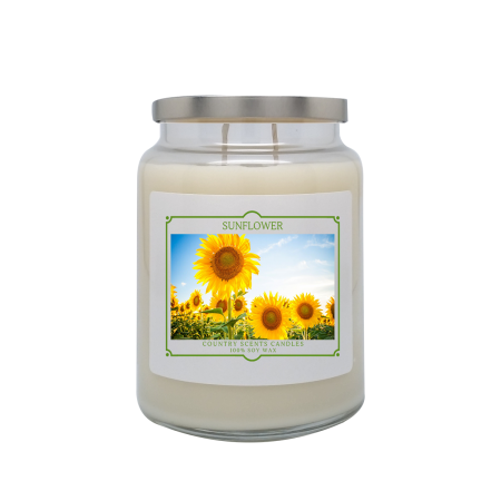 Sunflower 24oz Double Wick Candle