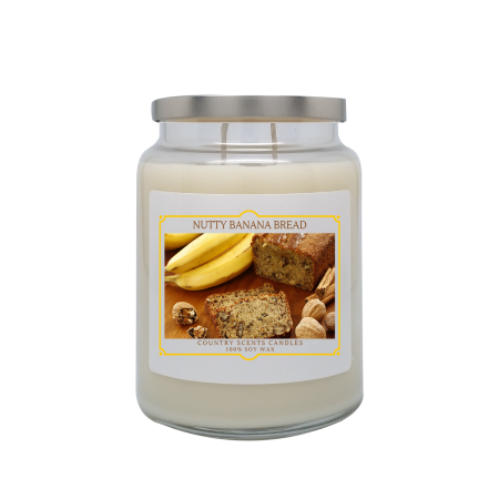 Nutty Banana Bread 24oz Double Wick Candle