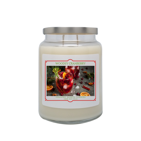Woodsy Cranberry 24oz Double Wick Candle