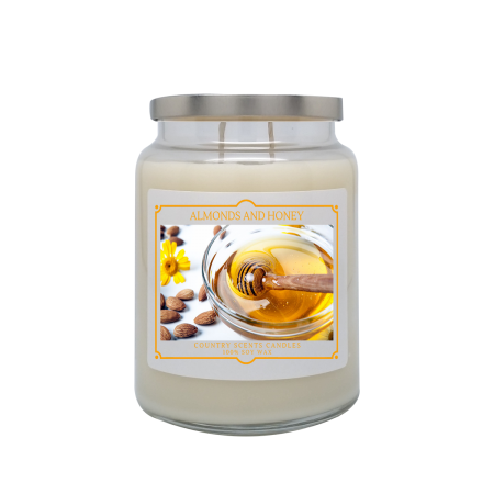 Almonds and Honey 24oz Double Wick Candle