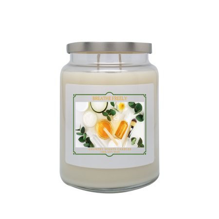 Breathe Freely 24oz Double Wick Candle