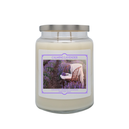 Calming Lavender 24oz Double Wick Candle