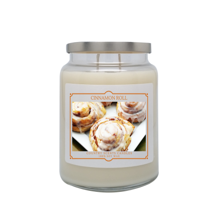 Cinnamon Roll 24oz Double Wick Candle
