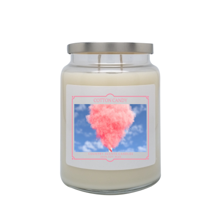 Cotton Candy 24oz Double Wick Candle