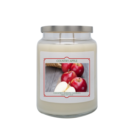 Country Apple 24oz Double Wick Candle