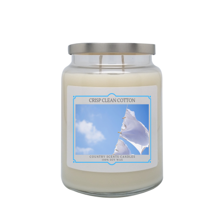 Crisp Clean Cotton 24oz Double Wick Candle