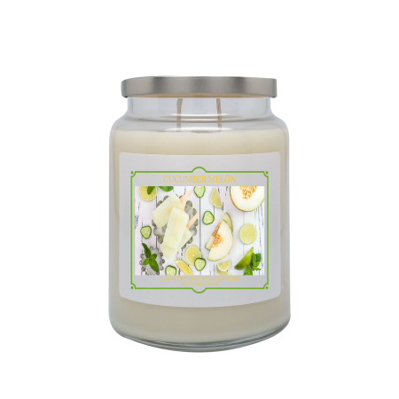 Cucumber Melon 24oz Double Wick Candle