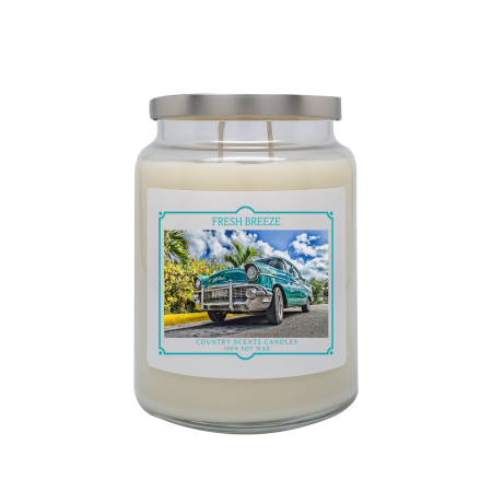 Fresh Breeze 24oz Double Wick Candle